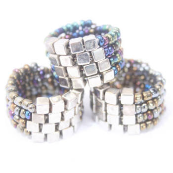 BAKKO: BEADED MULTI RING