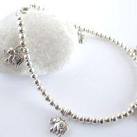 Silver Elephant Ankle Bracelet