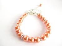Coral Flower Girl Bracelet