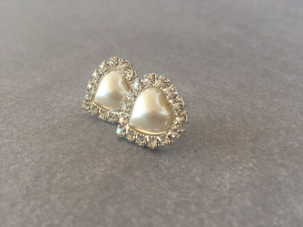 Elizabeth -  Pearl Stud Bridal Earrings