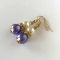 Purple Bridesmaid Earrings