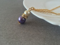 Purple and Gold Bridesmaid Necklace