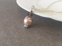 Pink Bridesmaid Necklace