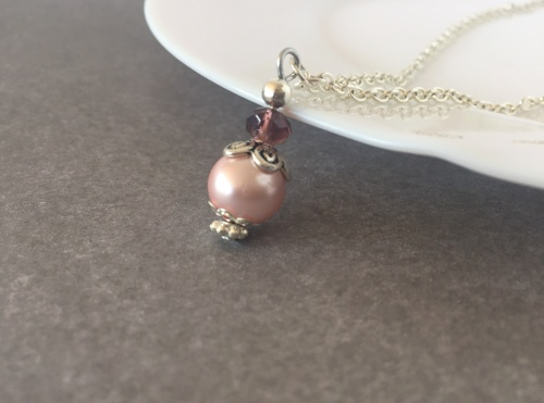 Pink Bridesmaid Necklace
