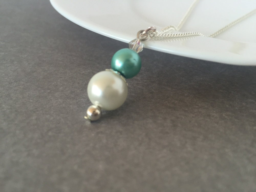 Aqua Green  Bridesmaid Necklace