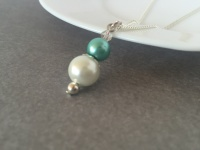 Green Pearl Bridesmaid Necklace