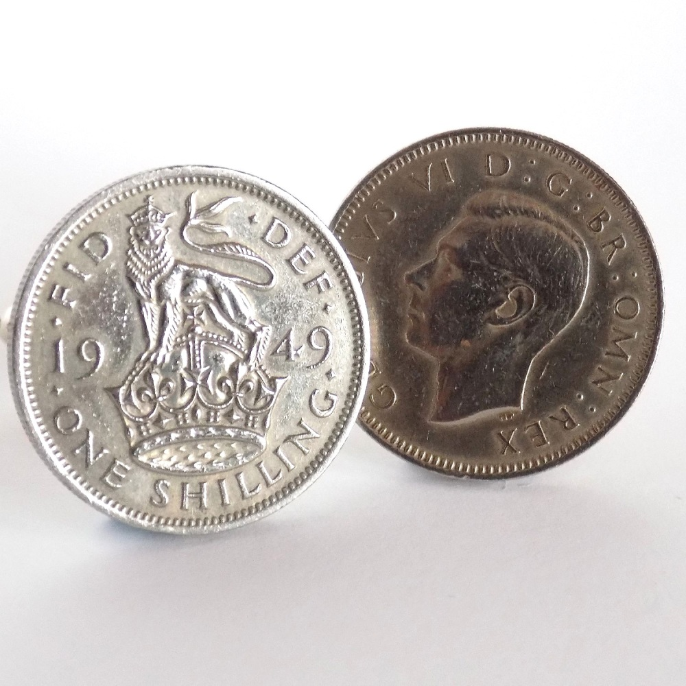 1949 British Coin Cufflinks