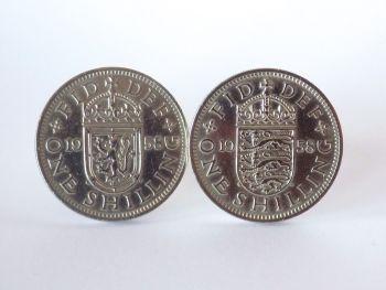 1958 English Coin Cufflinks