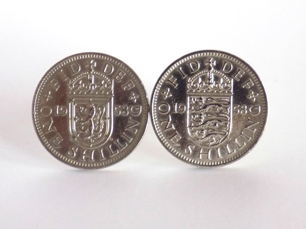 One Shilling Coin Cufflinks