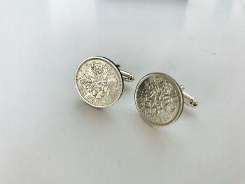 Coin Cufflinks 1964
