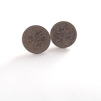 1951 Sixpence Coin Cufflinks