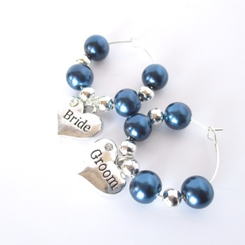 Bride and Groom Wine Charms