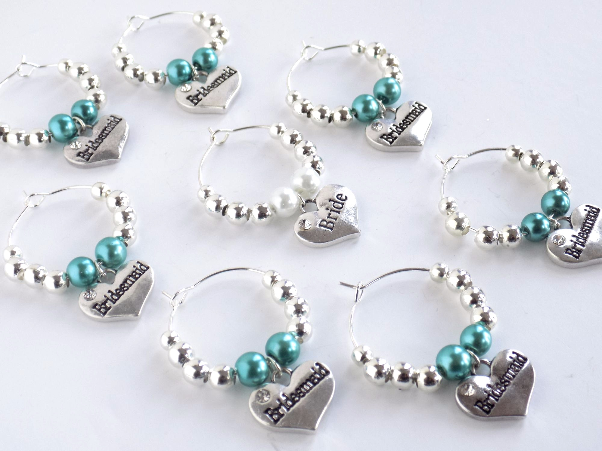 Bridal shower wine charms