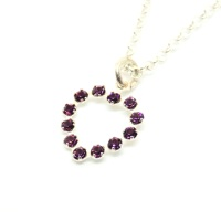 Purple Swarovski Heart Necklace