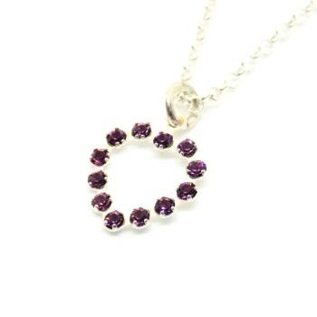 Purple Swarovski Heart Necklace