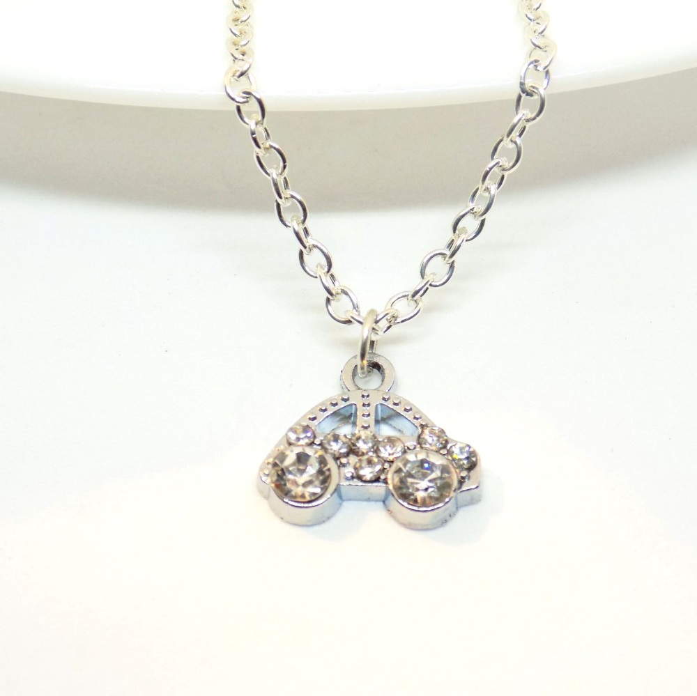 crystal car necklace
