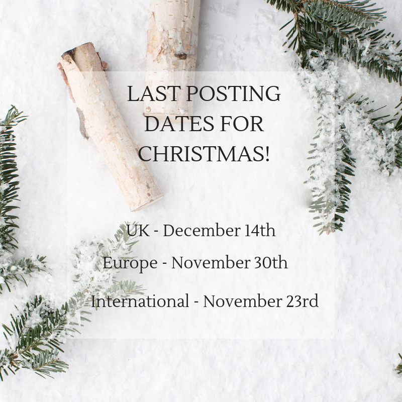 LAST POSTING DATES FOR CHRISTMAS 2018