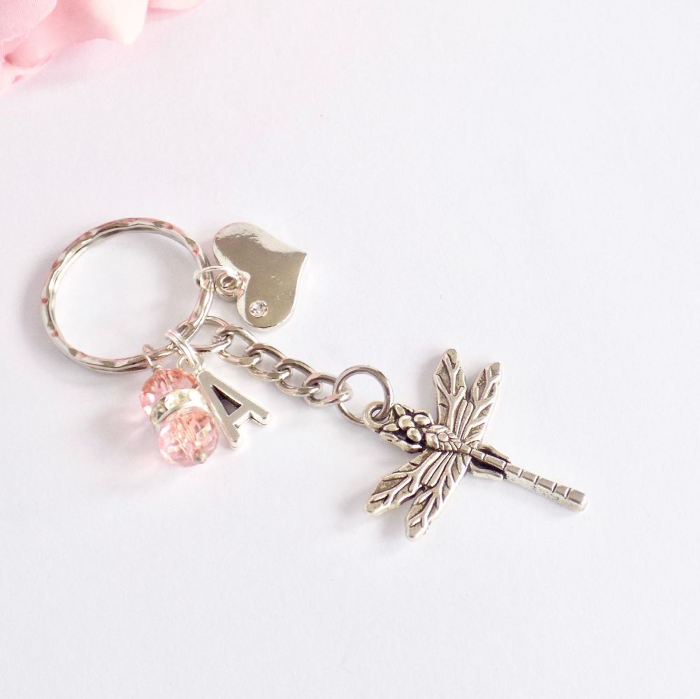 Personalised Dragonfly Keyring