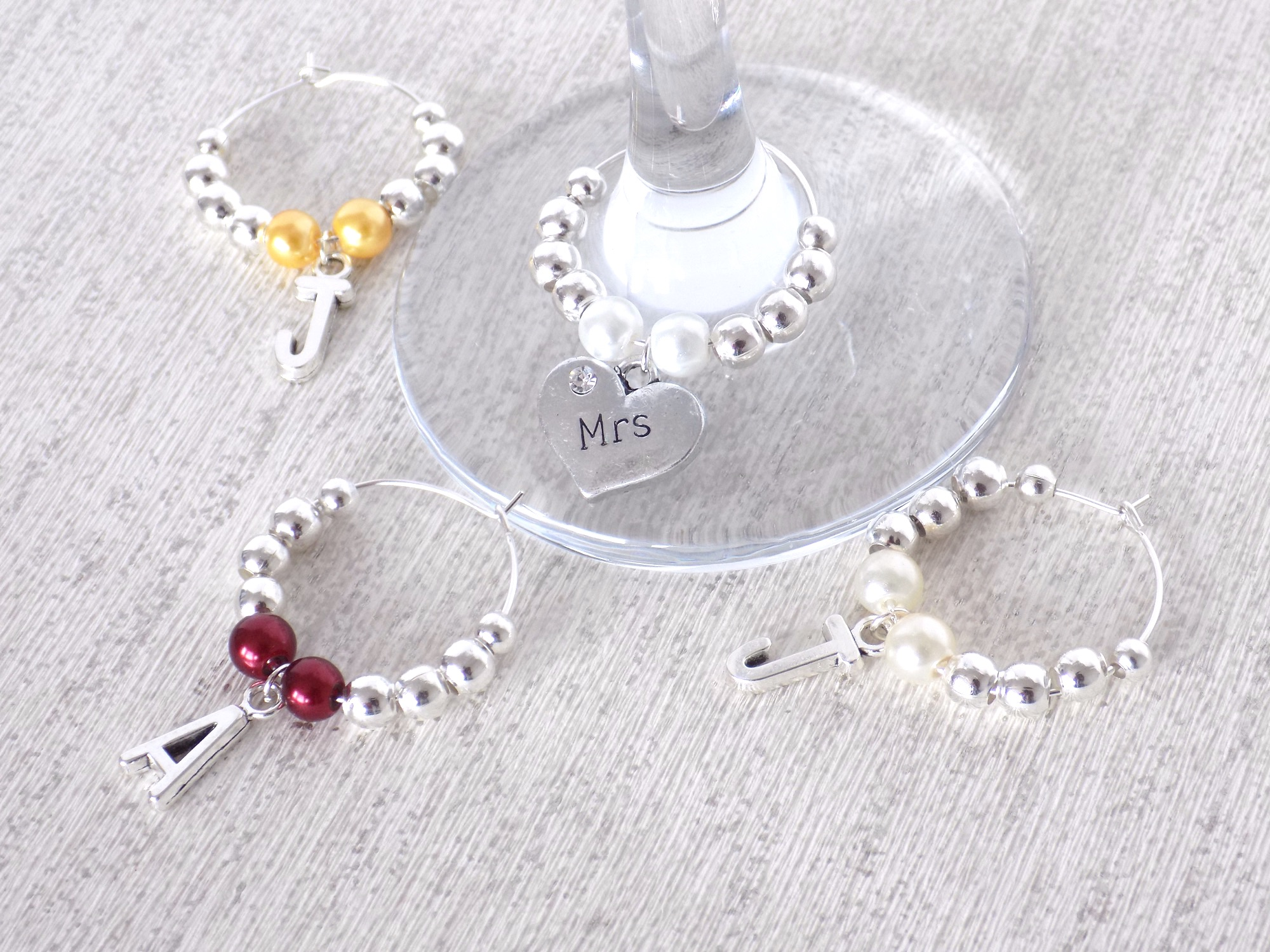 personalised wine charms for bridesmaids