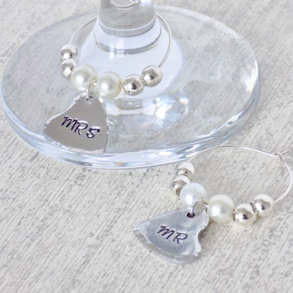 Couples Wine Glass Charms
