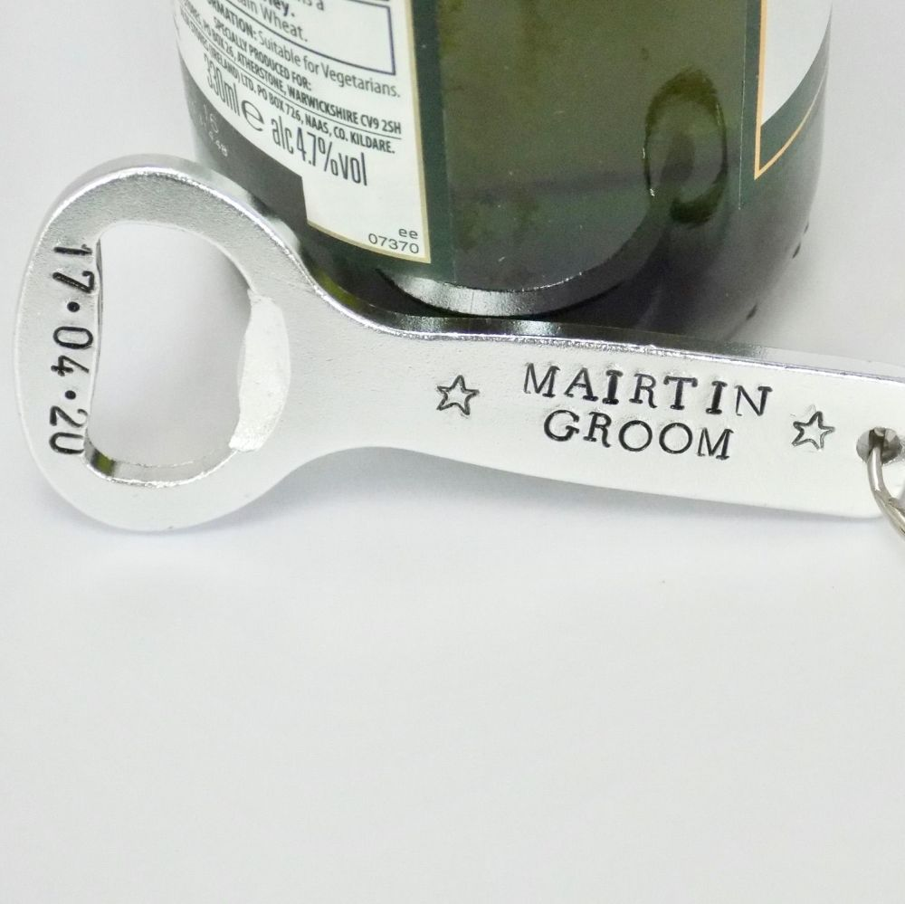 Groom Bottle Opener Keyring