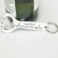 Father of the Bride Bottle Opener Keyring