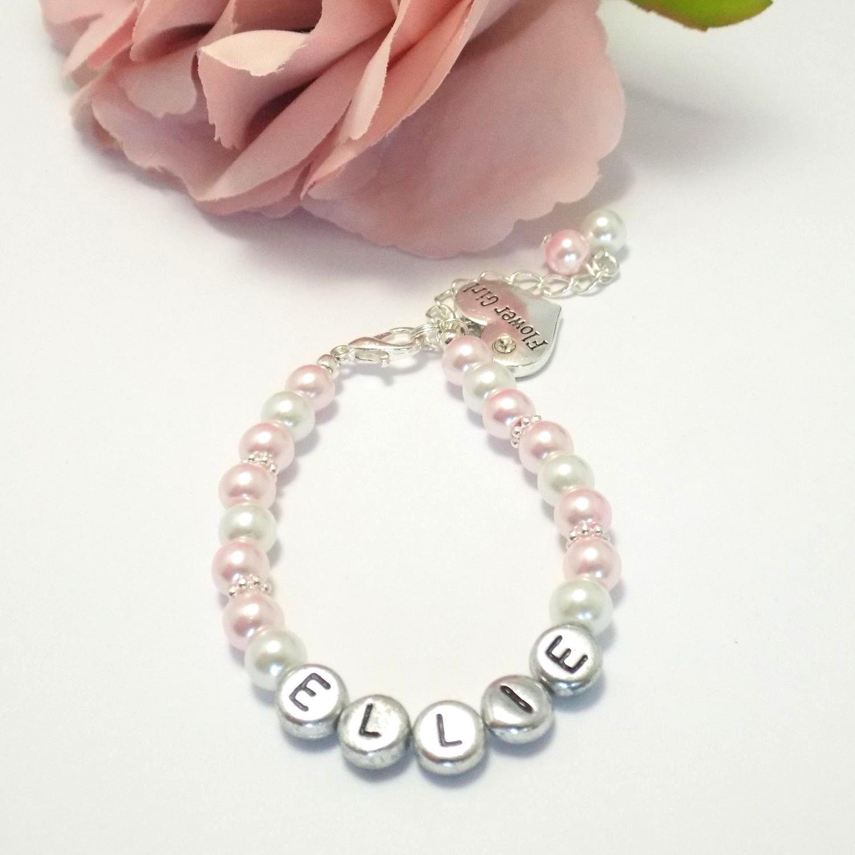 Name Bracelet for Flower Girl