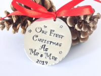 Our First Christmas as Mr and Mrs Christmas Bauble