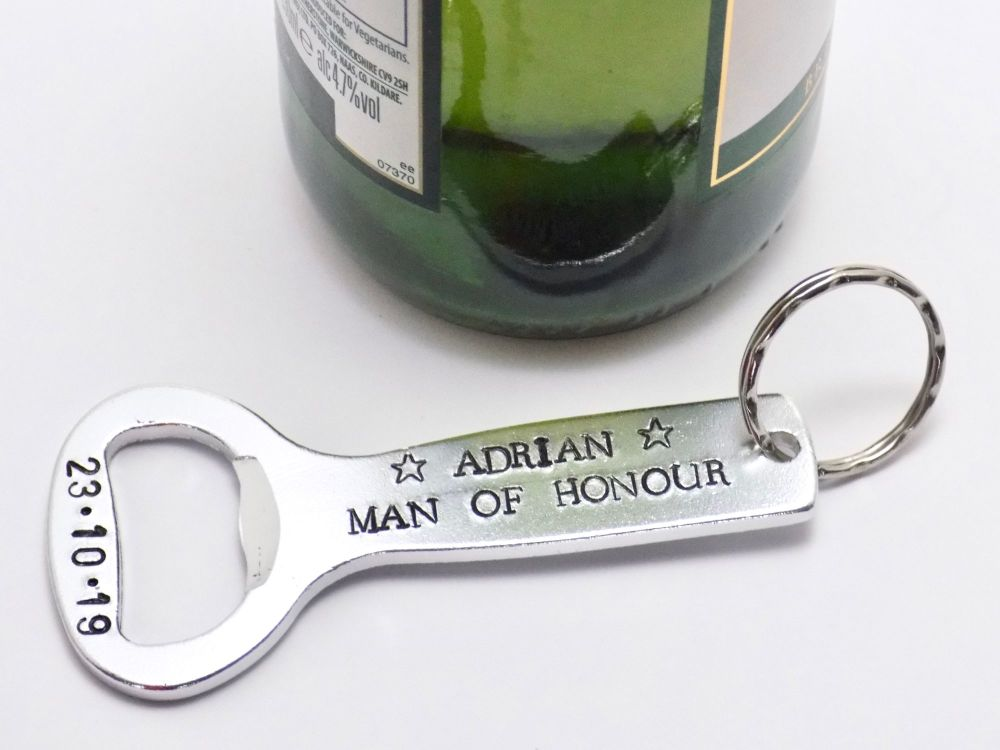 Man of Honour Bottle Opener Keyring