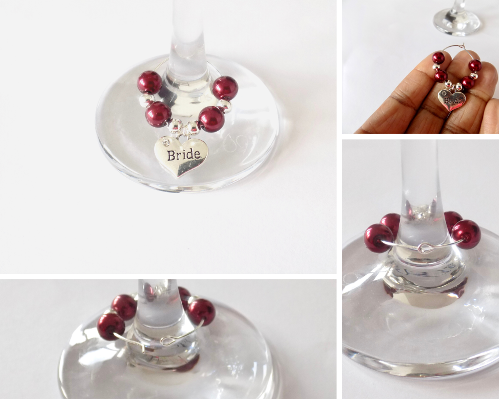 wine charm collage
