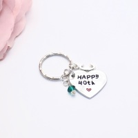 Personalised Birthstone Keyring