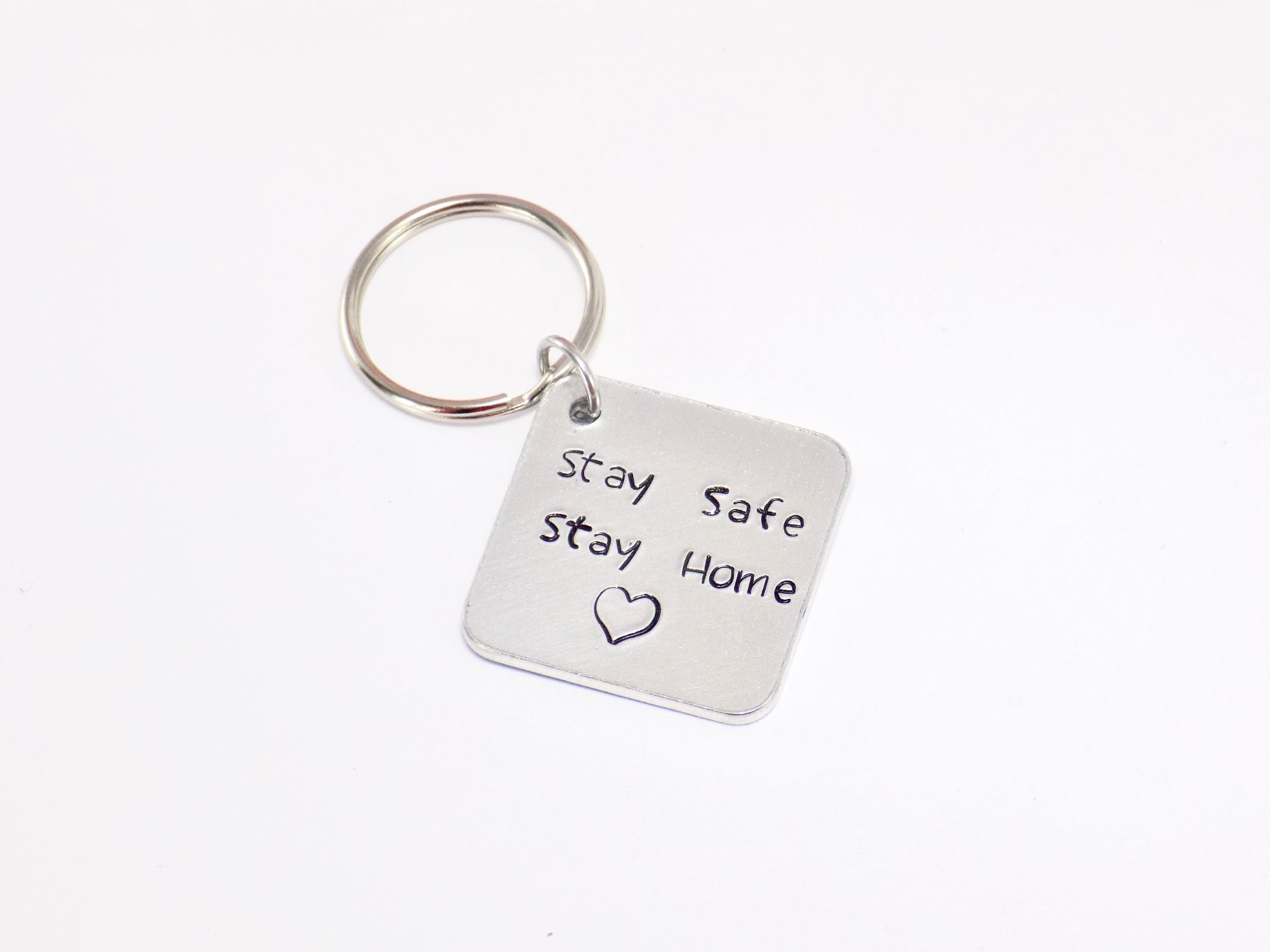 Stay SAFE stAY hOME keyring