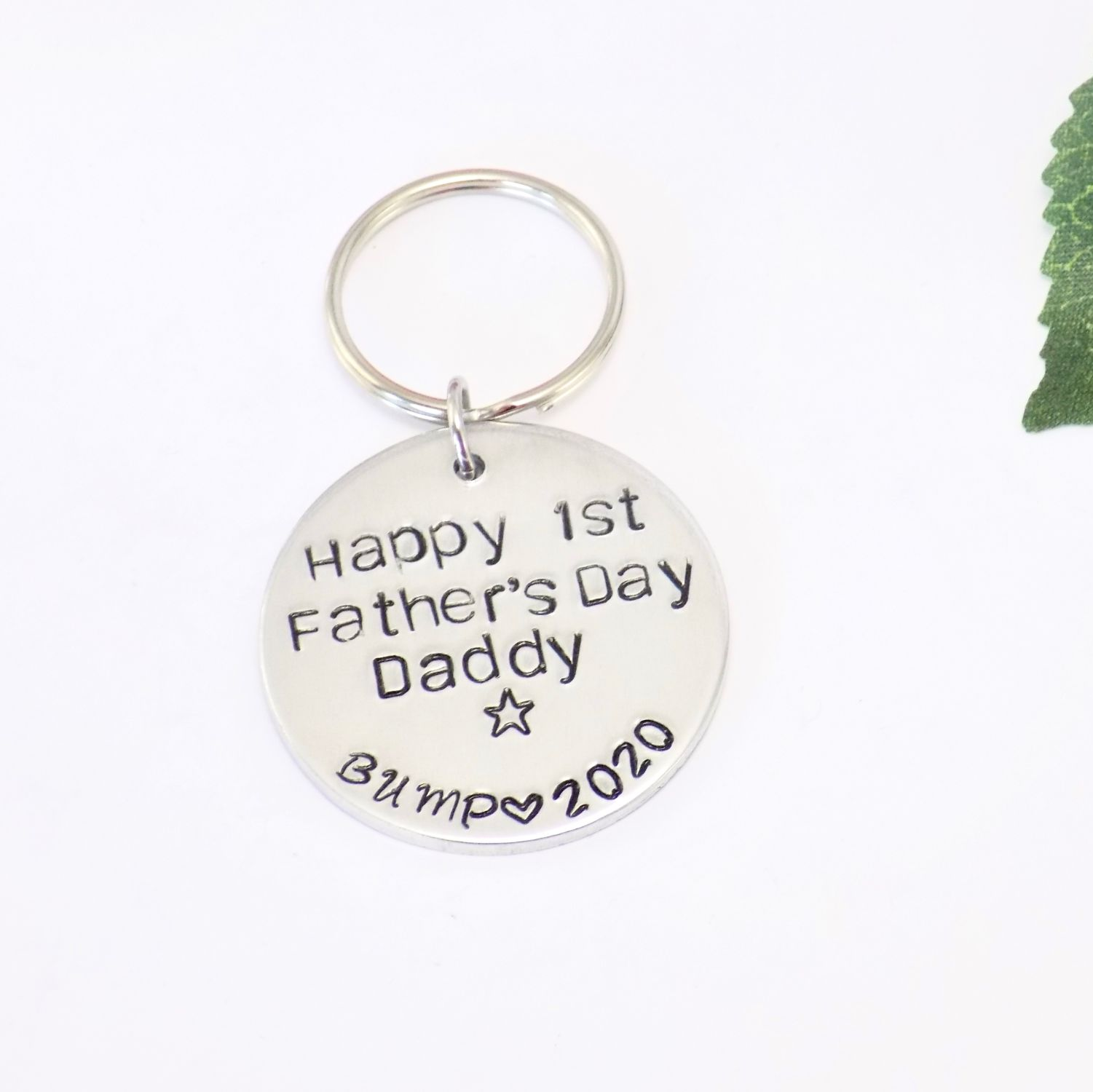 First Father's Day Keyring
