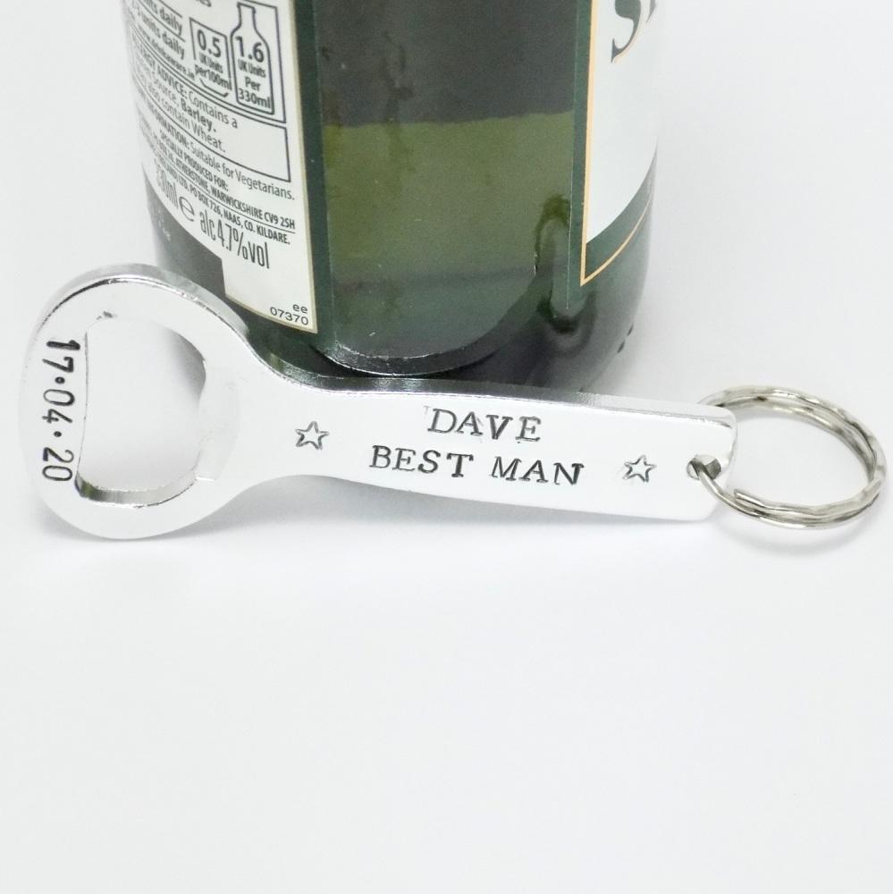 Best Man Bottle Opener Keyring