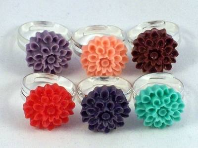 Flower Resin Ring