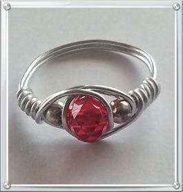 red wire wrapped ring