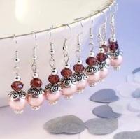 Pink Bridesmaid Earrings