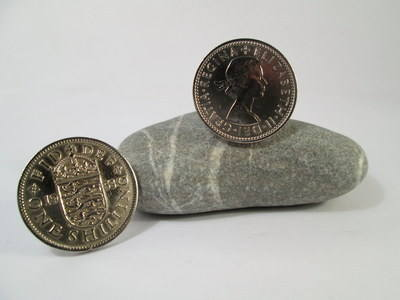 British Coin Cufflinks 1953