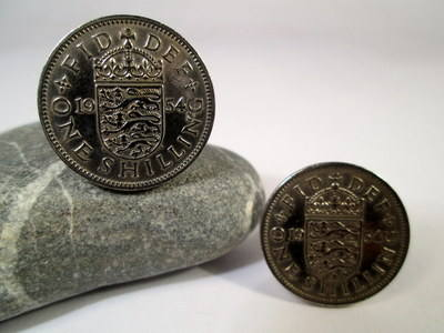 British Coin Cufflinks 1954