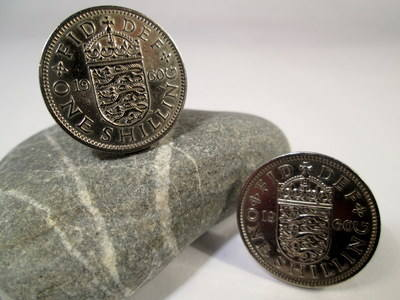 British Coin Cufflinks 1960