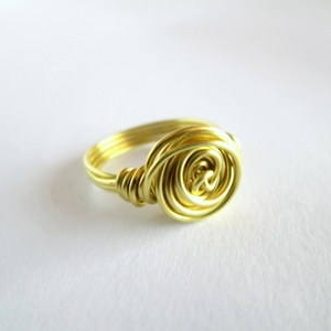 Brass Wire Rose Ring