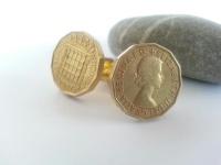 1967 Three Pence Coin Cufflinks