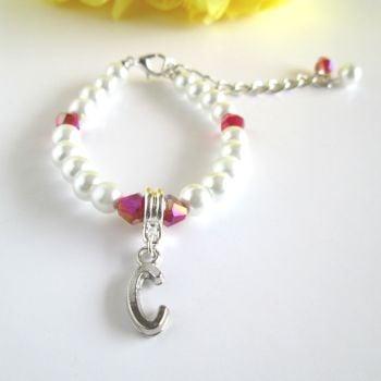 Personalised Bracelet for Flower Girl