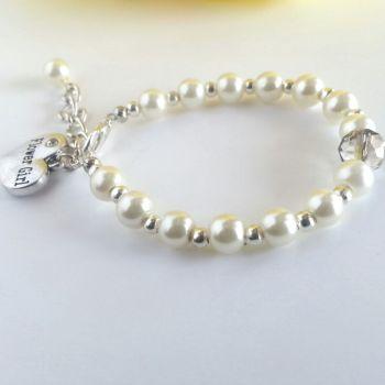 Ivory Flower Girl Bracelet