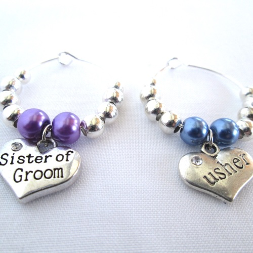 Wedding Wine Glass Charms Wedding Favor