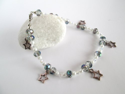 Crystals and Stars Ankle Bracelet