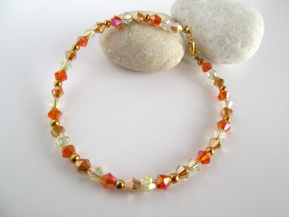 Tropical Crystal Ankle Bracelet