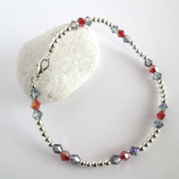 Silver Beaded Ankle Bracelet