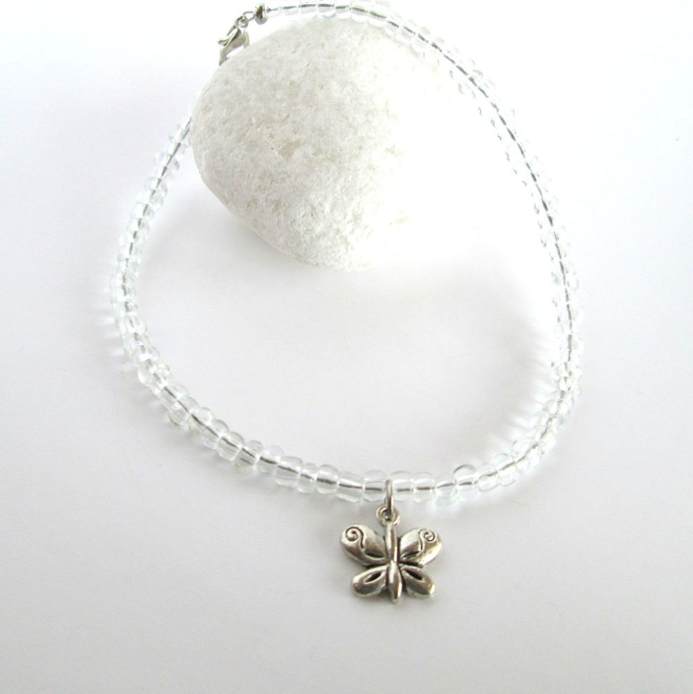 Crystal Clear Ankle Bracelet