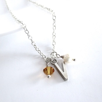 Birthstone Charm Necklace